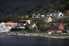 Town by fjord Royalty Free Stock Image