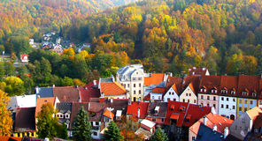 Town in a forest royalty free stock photos