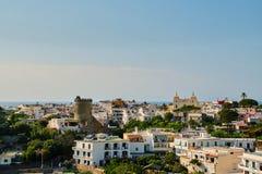 Town Forio on Ischia Island stock image