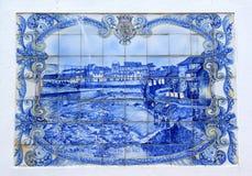 town för azulejobragancaportugis Royaltyfria Foton