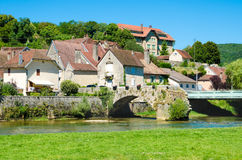Town in France. Old town in France on a sunny day Royalty Free Stock Photo