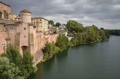 Town of Gaillac in France Stock Image