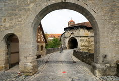 Town Gate At Rothenburg Royalty Free Stock Photo