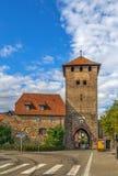 Town gate, Dambach-la-Ville, Alsace, France Royalty Free Stock Image