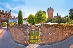 Town gate and historic landmark of Lazise Stock Photos