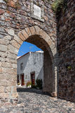 Town gate in the medieval Castelo de Vide fortifications. Royalty Free Stock Photo