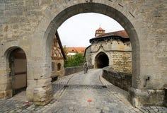 Town Gate at Rothenburg Royalty Free Stock Photo