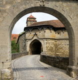Town Gate at Rothenburg Stock Photography