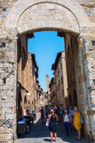 Town gate of San Gimignano, Italy Royalty Free Stock Images
