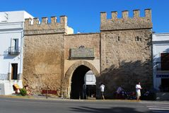 Town Gate, Tarifa. Stock Photos