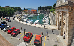 Town gate of Zadar Stock Photo