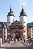 The town gates in Heidelberg in Germany Royalty Free Stock Images