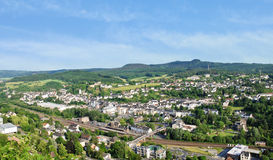 Town Gerolstein, Germany in summer day. View of climatic spa town Gerolstein, Germany in summer day stock images