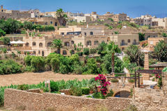 Town of Gharb in Malta. Town of Gharb on Gozo island in Malta Stock Photo