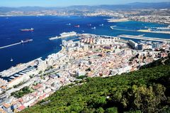 The Town of Gibraltar Royalty Free Stock Photography