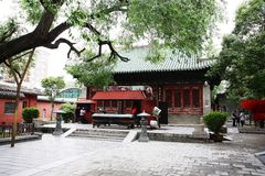 Town God& x27;s Temple, Zhengzhou. Is located in the northern part of Shangcheng Road East of Zhengzhou, China. When the temple was built, there was no Stock Photos