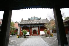 Town God& x27;s Temple, Zhengzhou. Is located in the northern part of Shangcheng Road East of Zhengzhou, China. When the temple was built, there was no Royalty Free Stock Images