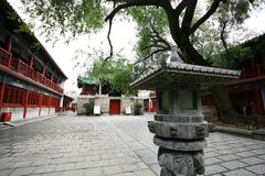 Town God& x27;s Temple, Zhengzhou. Is located in the northern part of Shangcheng Road East of Zhengzhou, China. When the temple was built, there was no Stock Images