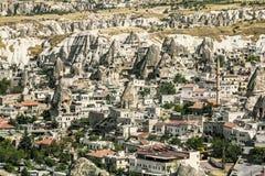 The town of Goreme-Cappadocia, the tourism capital of Turkey Stock Image