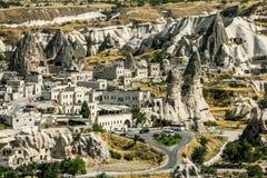 The town of Goreme-Cappadocia, the tourism capital of Turkey Royalty Free Stock Image