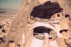 The town of Goreme in Cappadocia - Turkey Royalty Free Stock Photography