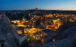 The town Goreme in the night Royalty Free Stock Image