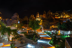 The town Goreme in the night Royalty Free Stock Photos