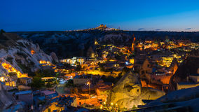 The town Goreme in the night Royalty Free Stock Photo
