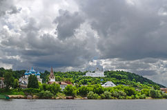 The town of Gorokhovets on the river Klyazma  Royalty Free Stock Photo