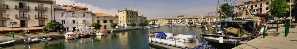 Town of Grado in Italy, panorama stock photography