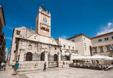 Town Guard house in Zadar, Croatia Royalty Free Stock Image