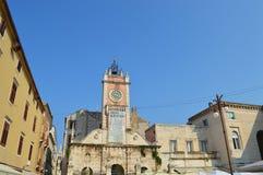 Town Guardhouse in Zadar. Clock in croatia Royalty Free Stock Photo