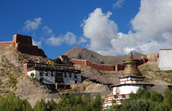 The  town of Gyantse. PELKHOR CHOEDE,or KUMBUM  in Gyantse,Tibet Royalty Free Stock Photo