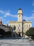 Town-hall. An yellow town-hall - Komarno; Slovakia; Europe stock photography