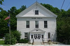 Town Hall. Building in a small New England town royalty free stock photo