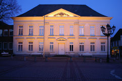 Town hall. In sunset, spring 2006, little town in germany royalty free stock image