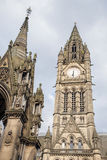 Town Hall and Albert Memorial by Noble, Albert Square, Mancheste Stock Photography