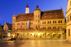 Town hall of ancient city Rothenburg Royalty Free Stock Photo