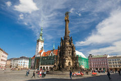 Free Town Hall And Holy Trinity Column, Olomouc, Czech Republic Stock Photo - 92400930