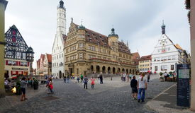 Town Hall And Market Square In Rothenburg Stock Image