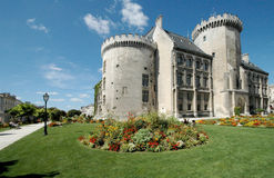 Town hall at Angouleme France. The town hall and flower gardens at Angouleme France Stock Photography