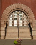Town hall arched entry Stock Photography