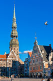 A town hall area is in Riga Stock Photo