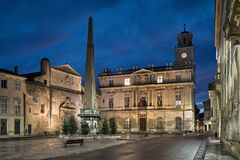 Town Hall of Arles and Place de la Republique, France Royalty Free Stock Image