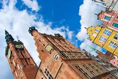 The Town Hall and Artus Court in Gdansk, Poland Royalty Free Stock Image