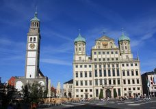 Town Hall of Augsburg Stock Photography