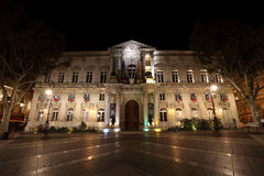 Town hall of Avignon at night Royalty Free Stock Images