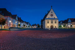 Town-hall in Bardejov. Evening shot of main square in the beautiful city of Bardejov Stock Photos
