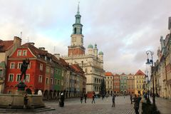 Town hall in the beautiful old city of Poznan, Poland Stock Photography