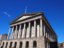 Town Hall, Birmingham, England. The neoclassical town hall on Victoria Square in the heart of Birmingham, Great Britain royalty free stock photo